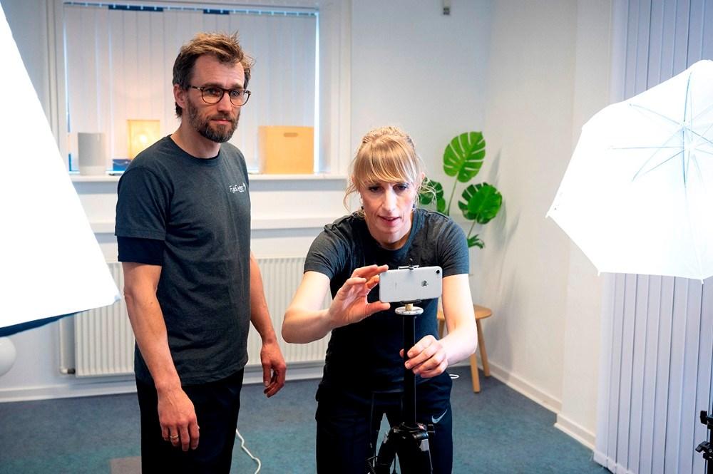 Maja og Thomas Helbo Jensen, der er fysioterapeuter og Partnere i FysioCenter Kalundborg. Foto: Jens Nielsen.