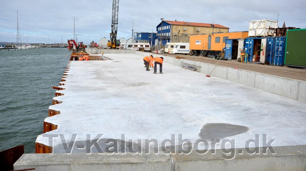 Det store areal bliver tilterrasse-niveauer, så man kan sidde helt ned til vandet og nyde udsigten. Ud for terrasse-niveauerne etableres det nye havnebad. ,Foto: Jens Nielsen