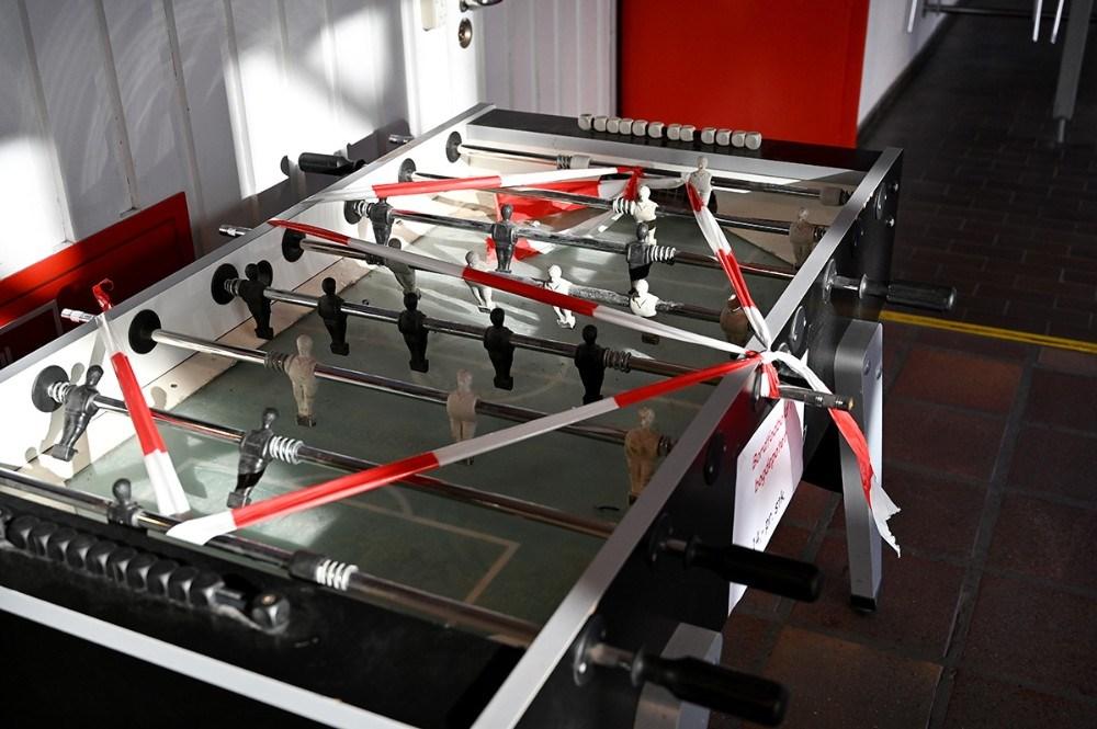 Der er heller ikke mulighed for at spille bordfodbold. Foto:Jens Nielsen