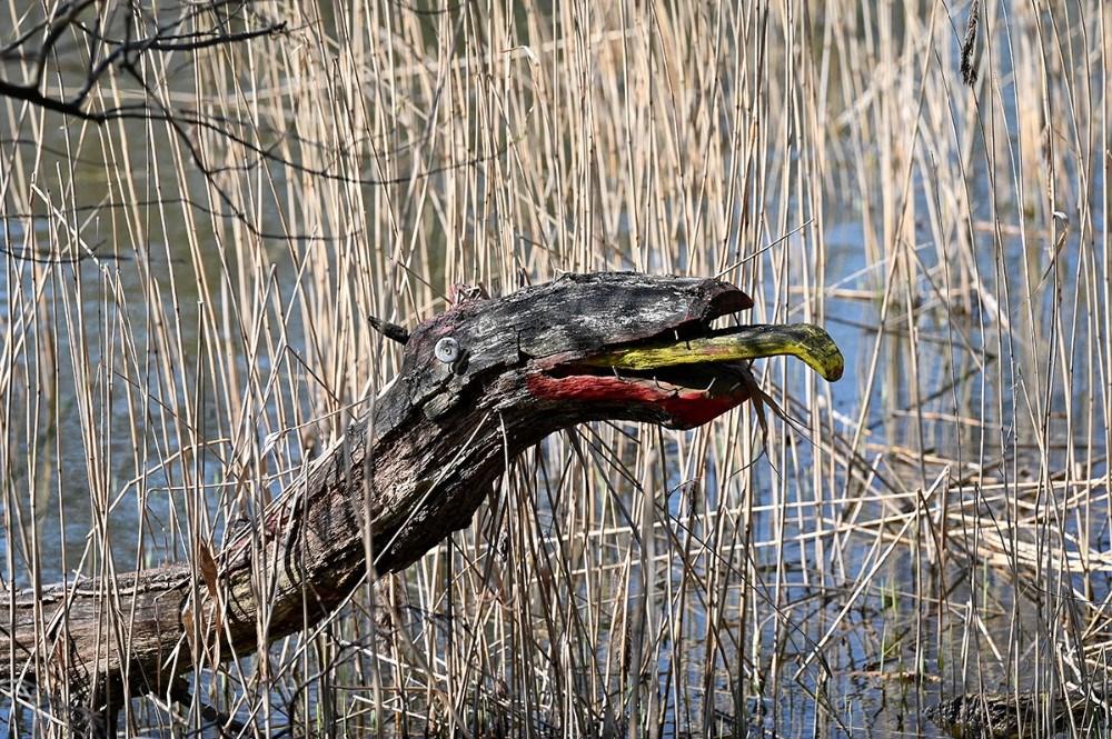 Loch Ness uhyret byder velkommen til området. Foto: Jens Nielsen