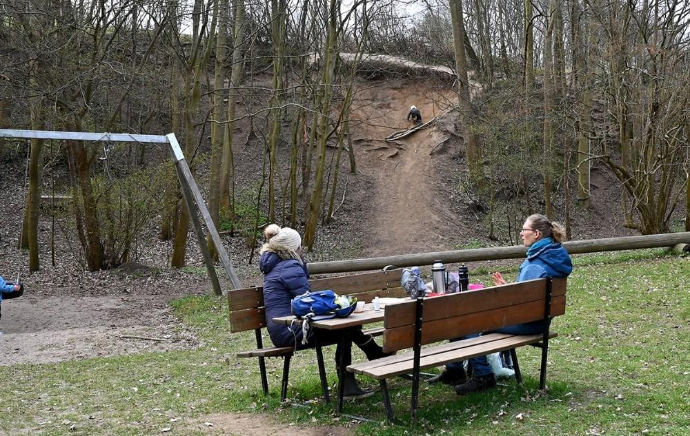 Legepladsen er populær. Foto: Jens Nielsen