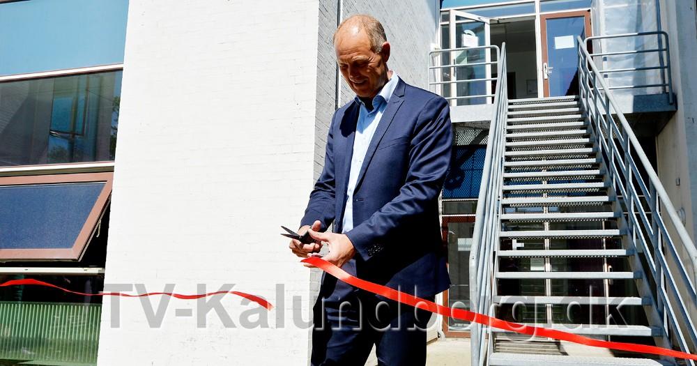 Borgmester Martin Damm indviede den nye tilbygning. Foto: Jens Nielsen