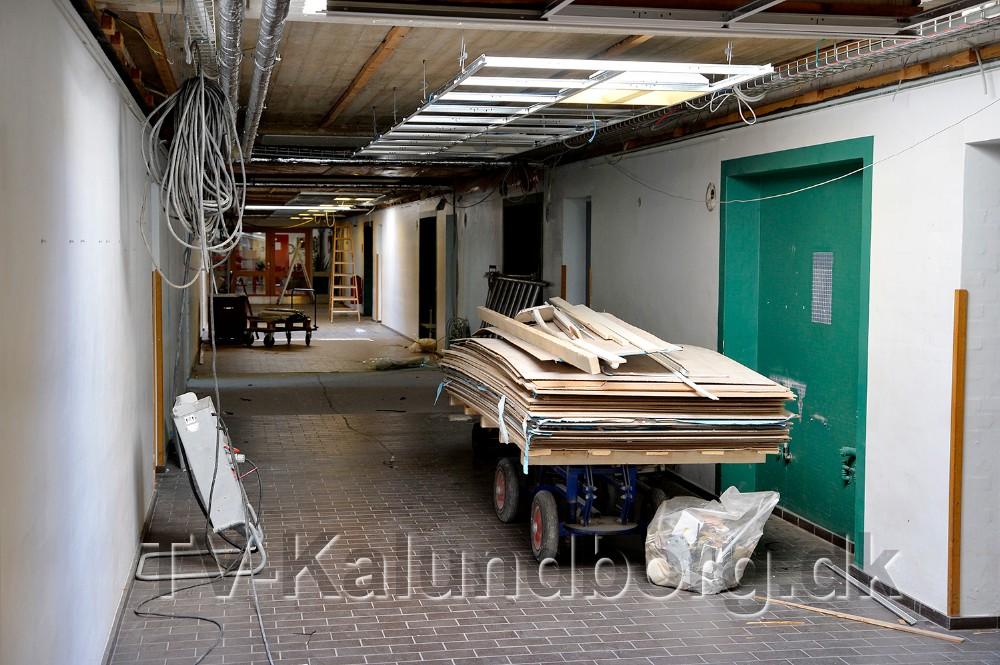 Håndværkerne er gået i gang i C-fløjen. Foto: Jens Nielsen