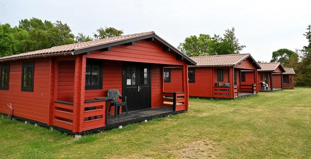 Reersø Camping har campinghytter i tre størrelser. Foto: Jens Nielsen