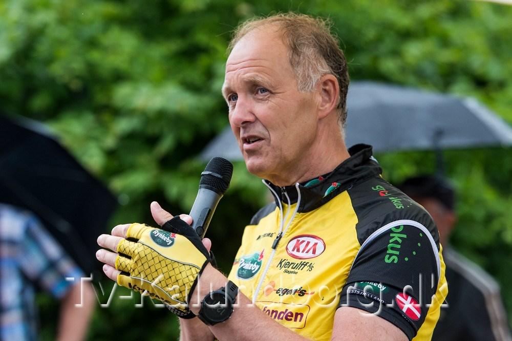 Borgmester Martin Damm var også trukket i cykeltøjet. Foto: Jokum Tord Larsen