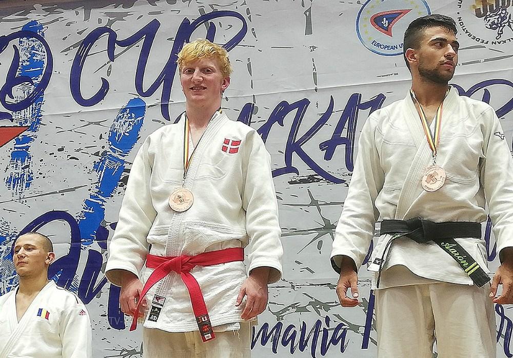 Simon Dalsgaard har vundet bronze til U21 Grand Slam i Ju-jutsu i Rumænien. Privatfoto.