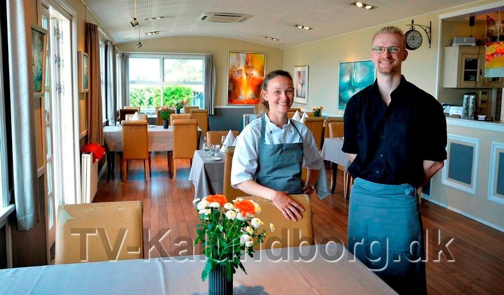 Julie Kjærulff og Simon Wittrock, Restaurant Gisseløre. Foto: Jens Nielsen