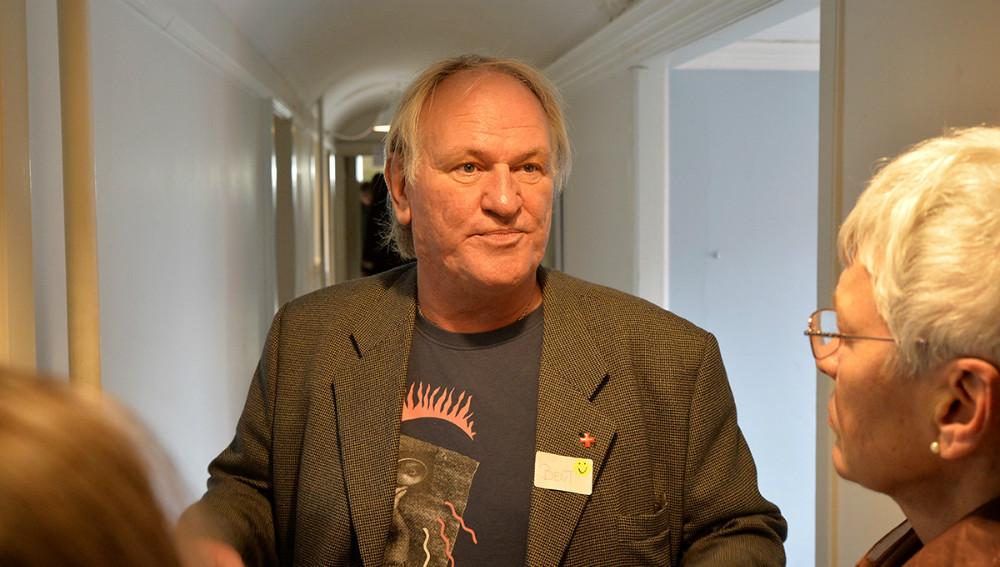 Daglig leder Bent Jahns fortalte om centret. Foto: Jens Nielsen