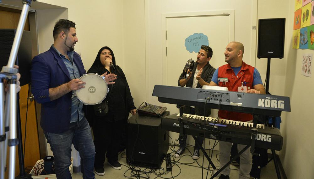 Der var musikalsk underholdning. Foto: Jens Nielsen