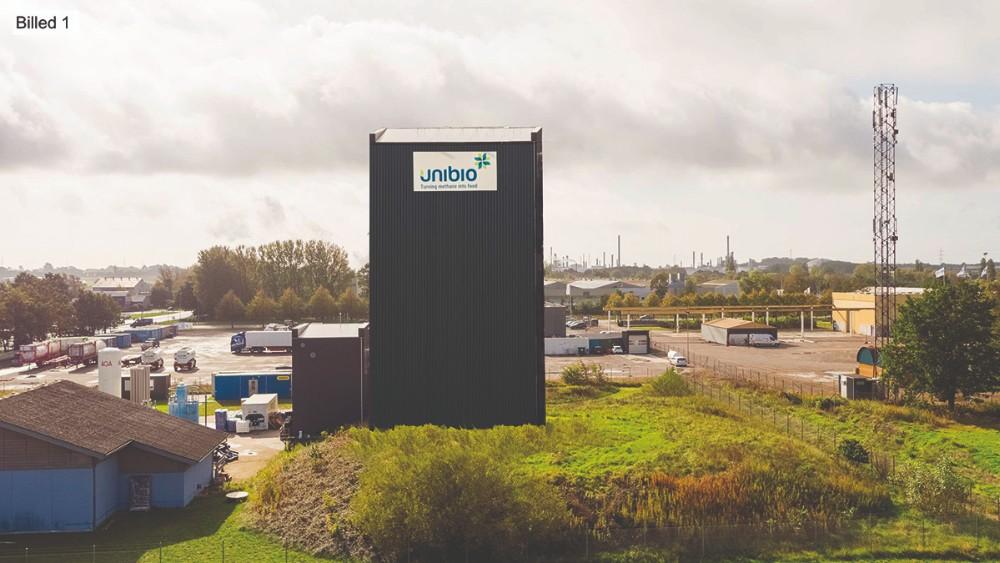 Sådan forestiller Unibio at den nye tilbygning skal se ud.