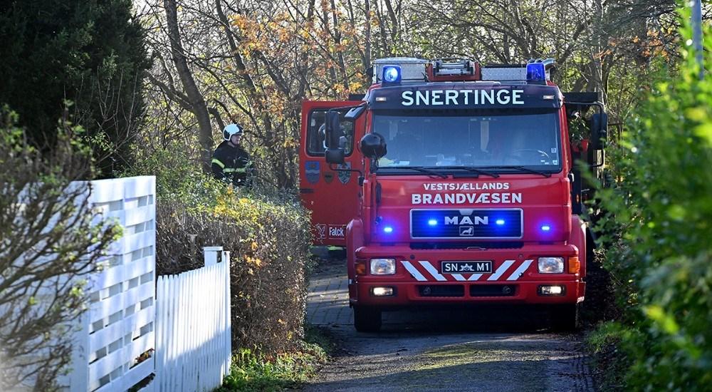 Brandfolkene kom nærmest ikke i arbejde og kunne hurtigt returnere til stationen. Foto: Jens Nielsen