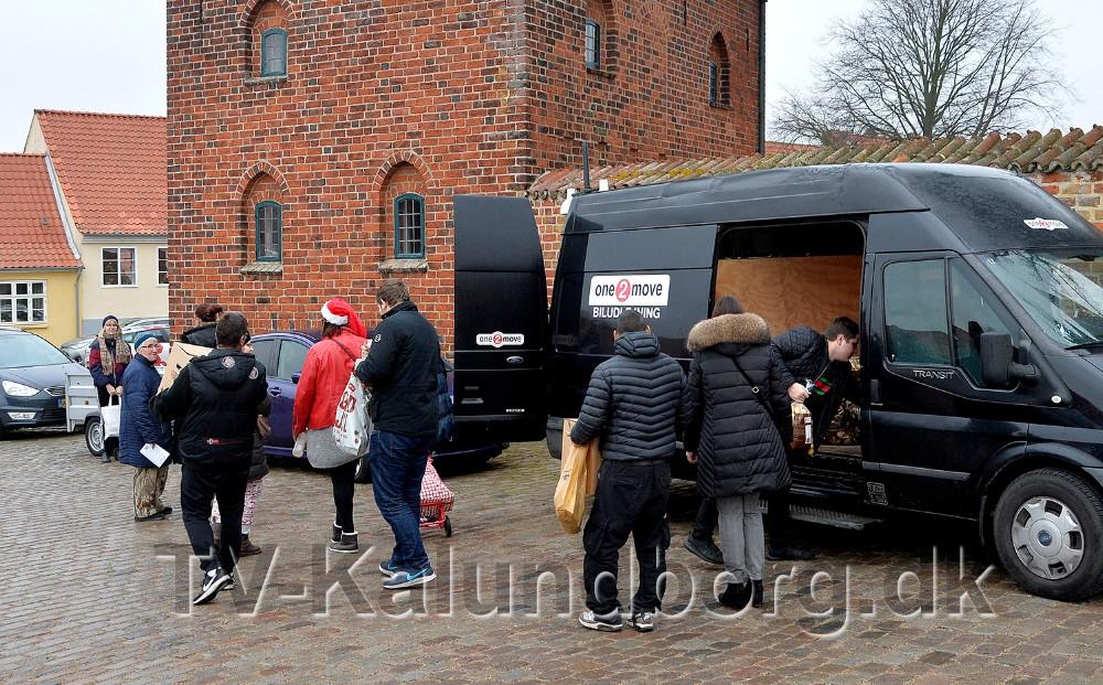 75 familier fik i år julehjælp i Kalundborg fra Frelsens Hær. Foto Jens Nielsen