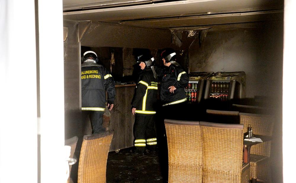 Alt blev ødelagt da branden hærgede Pizza Mia. Foto: Jens Nielsen