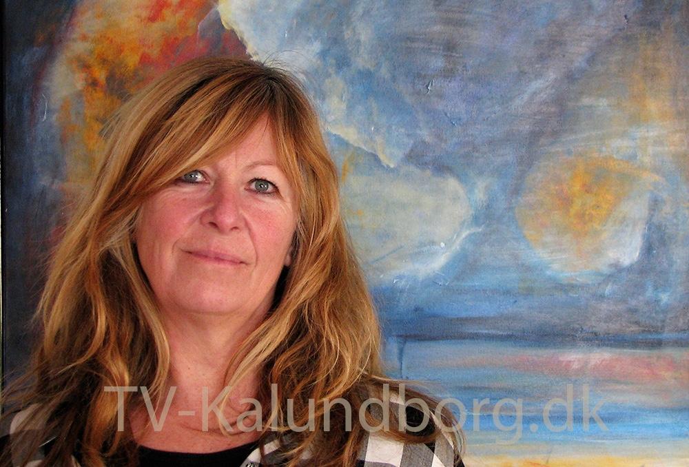 Eva Aamo udstiller hele marts på Høng Bibliotek.