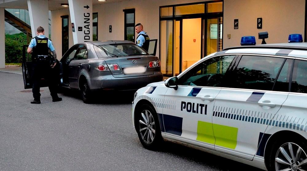 En kammerat kørte den 18-årige til Akut og Sundhedshuset.  Foto: Jens Nielsen