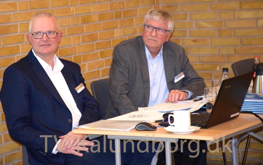 Direktør i Kalundborgegnens Erhvervsråd, Hans Søie (tv) og tidligere formand for bestyrelsen, Ole Lauritzen. Foto: Gitte Korsgaard.