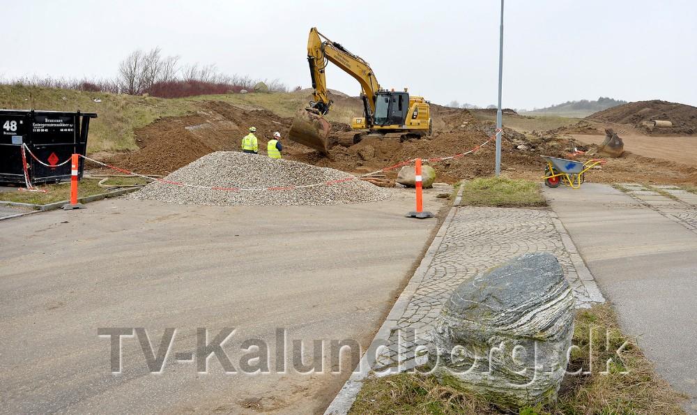 Arbejdet med at etablere vej fra Herredsåsen og til Raklev er gået i gang. Foto: Jens Nielsen