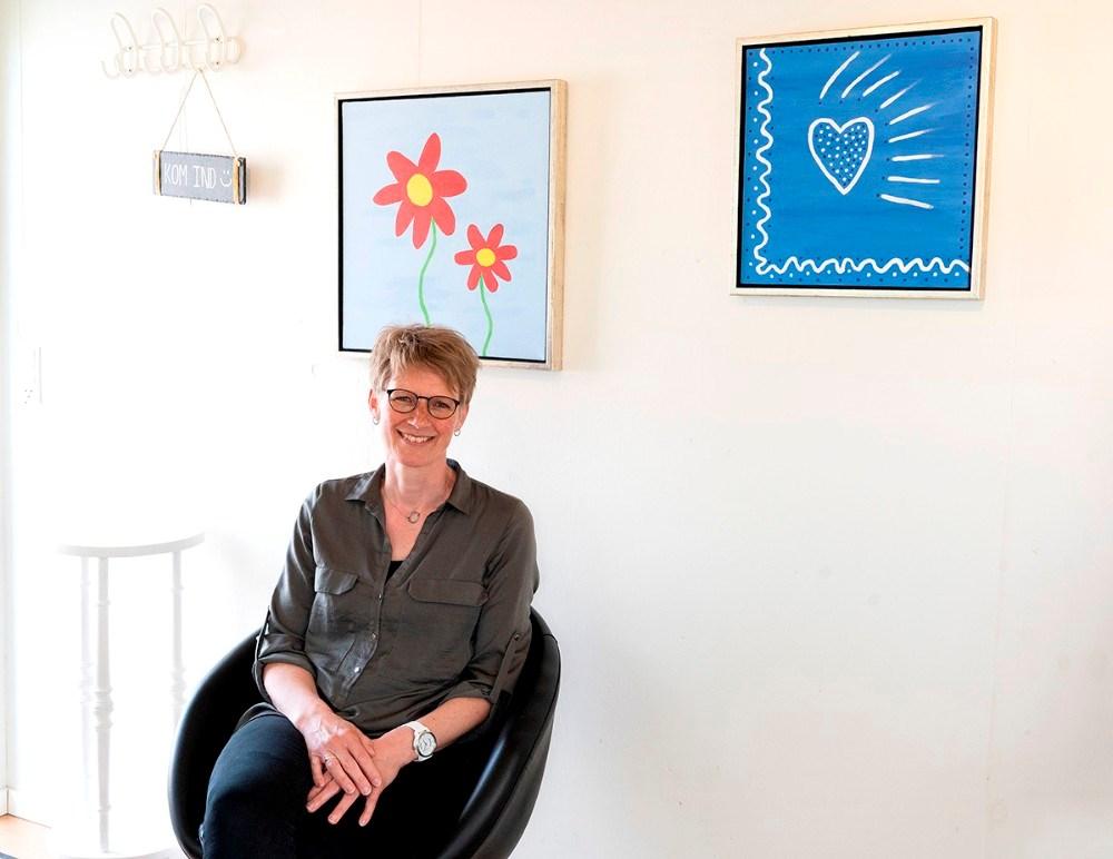 Grethe Lindbjerg i sit kontor. Foto: Jens Nielsen