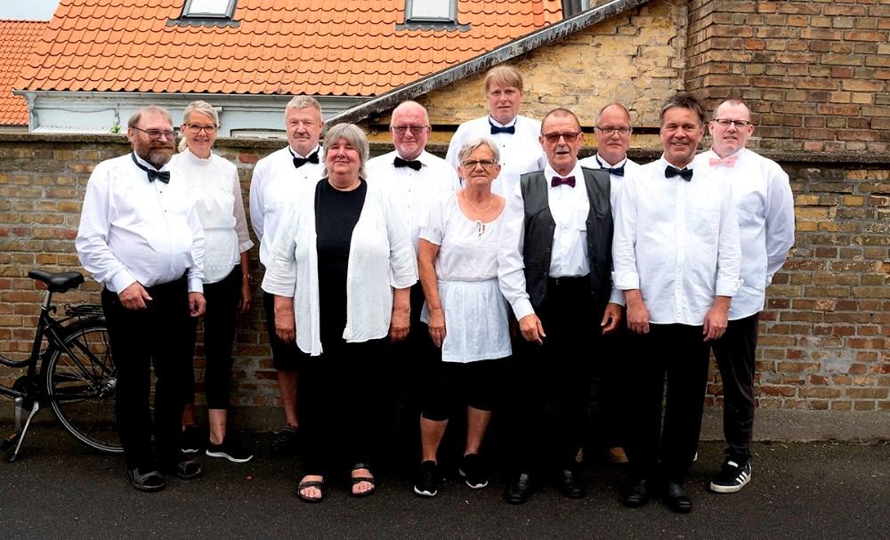 Det aktive serveringspersonale.  Foto: Jens Nielsen