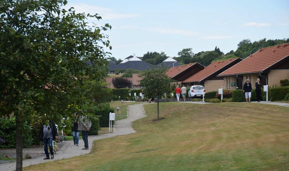 Fredag eftermiddag var der åbent hus i seniorbofællesskabet i Klosterengen i Kalundborg.Foto: Gitte Korsgaard