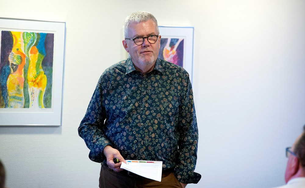 Formand for Vores Kalundborg aflagde bestyrelsens beretning. Foto: Jens Nielsen