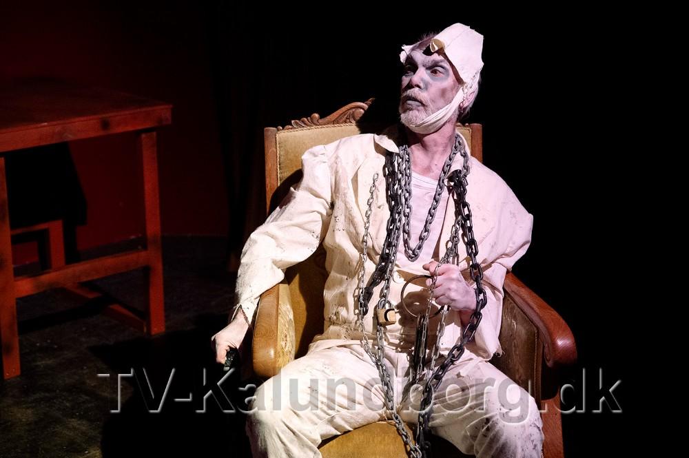 Marley's spøgelse, der spilles af Niels-Jørn Mathiasen. Foto: Jens Nielsen