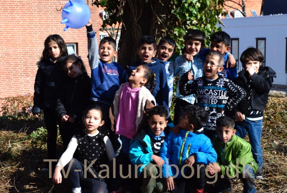 De fleste fra indskolingsklassen. Foto: Gitte Korsgaard