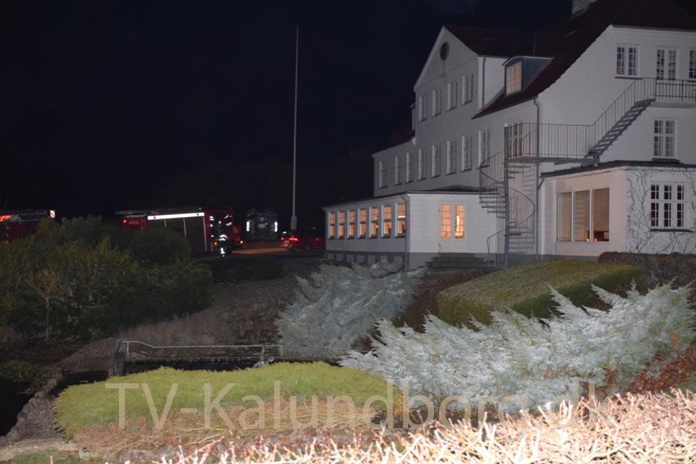 Brandalarmen gik på Røsnæs Strandhotel, men der var fejl i alarmsystemet og ingen brand. Foto: Gitte Korsgaard