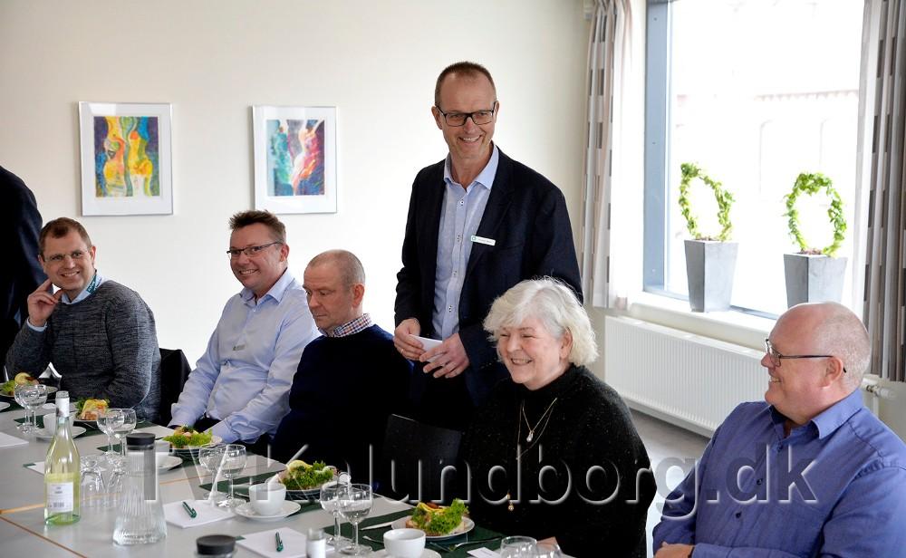 Michael Møller, afdelingsdirektør Jyske Bank Kalundborg, bød velkommen til cybercrime forkost. Foto: Jens Nielsen