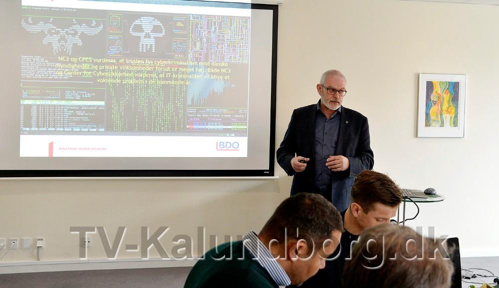 BDOs cybercrime specialist, Ivan Sommer var inviteret til Kalundborg for at fortælle om det vigtige emne. Foto: Jens Nielsen