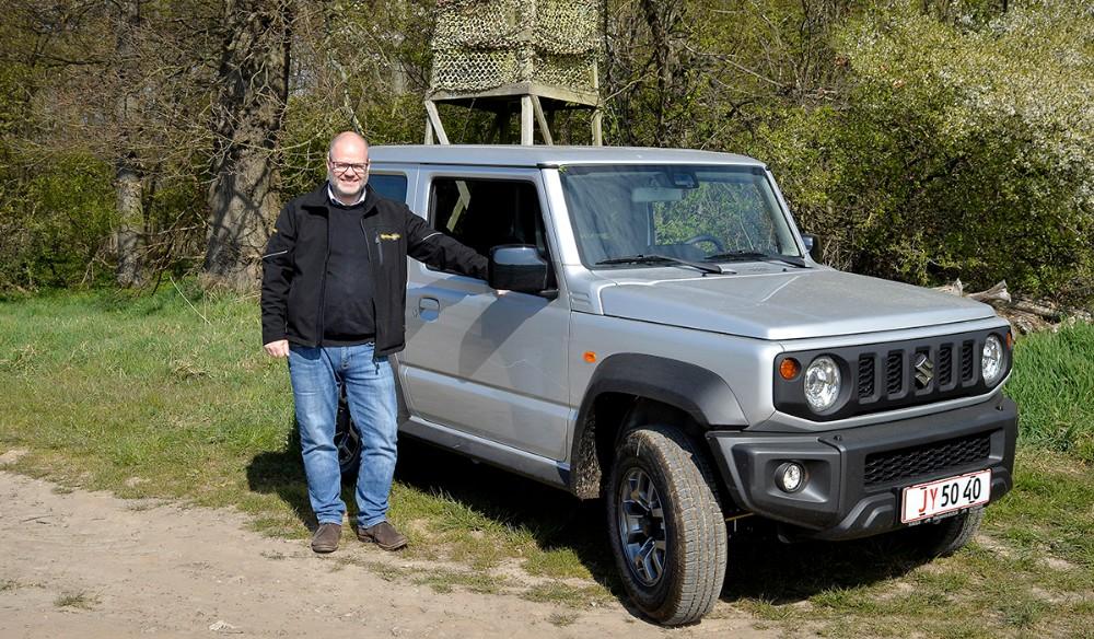 Rene Petersen fra Hansen Biler i Kalundborg er klar til at præsentere Suzuki Jimny i den kommende weekend. Foto: Jens Nielsen