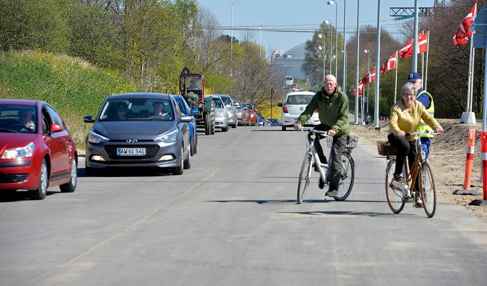 Køen var lang for at komme ind på Ny Vesthavn. Foto: Jens Nielsen