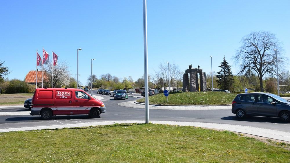 Trafikken blev tirsdag igen åbnet i begge retninger på Holbækvej i Kalundborg. Foto: Gitte Korsgaard.