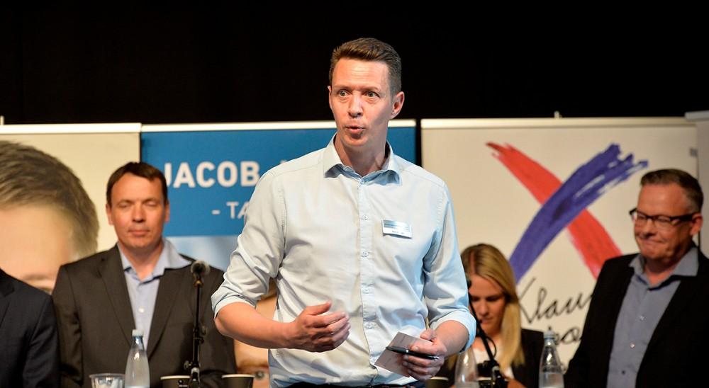 Erhvervschef Jens Lerager bød velkommen. Foto: Jens Nielsen