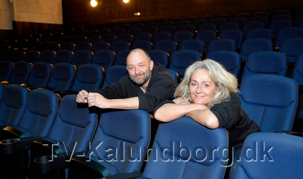 Annette Sønder Andersen og Brian Sønder Andersen er klar til igen at vise film i Kino Den Engel. Foto: Jens Nielsen