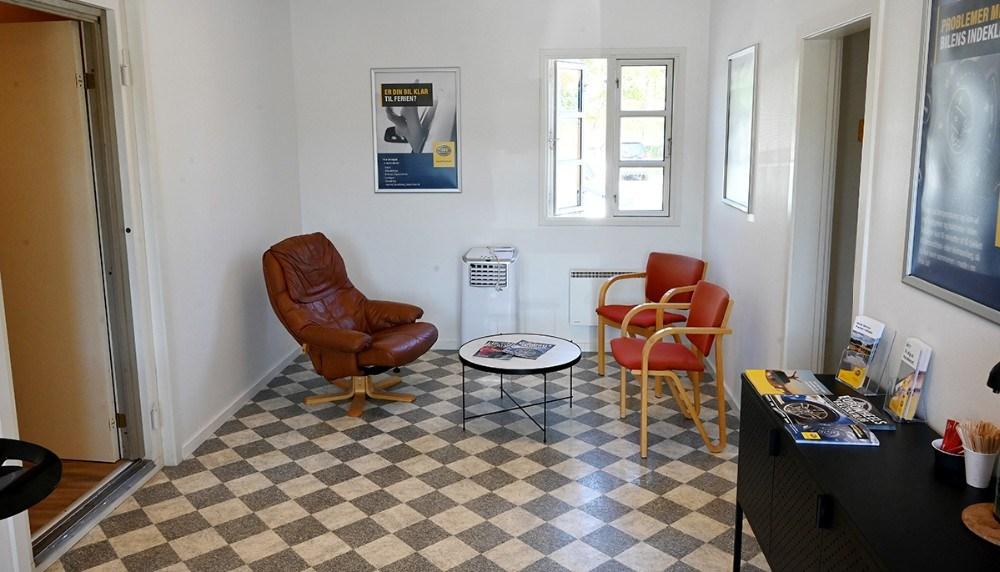 I de nye lokaler er der blevet plads til både indskrivning og venterum for kunderne. Foto: Jens Nielsen