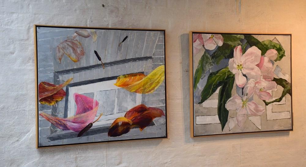 Malerier af Maja de Hemmer. Foto: Gitte Korsgaard.