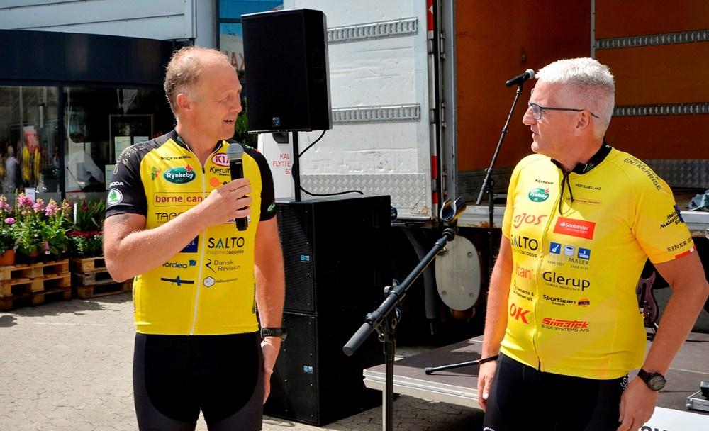Martin Damm ønskede Team Rynkeby Vestsjælland god tur til Paris. Foto: Jens Nielsen