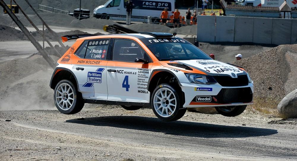 Jacob Madsen blev vinder af NCC Rallysprint 2018. Foto: Jens Nielsen