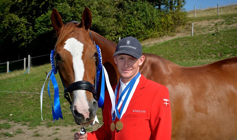 Tobias Jørgensen, Kalundborg sammen med hesten Bon Chaval. Foto: Jens Nielsen