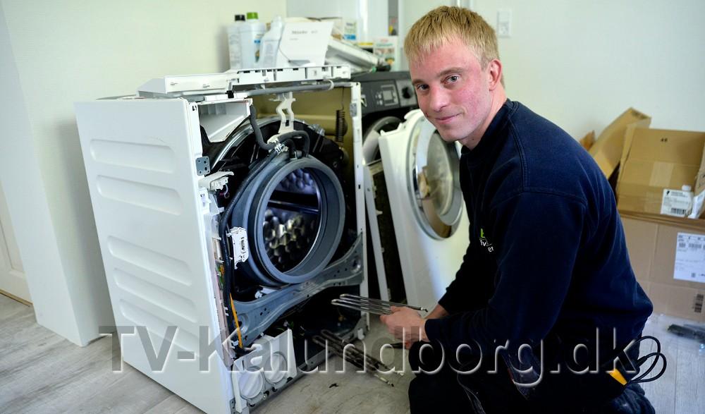 Vaskemaskiner er det som BSN Hvidevarer udfører flest reparationer på. Foto: Jens Nielsen
