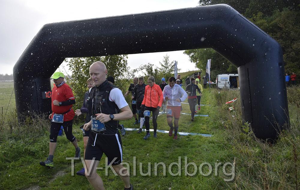 En masse løbere var i dag samlet på Røsnæs til HedeDanmarks Røsnæs Trail. Foto: Gitte Korsgaard.