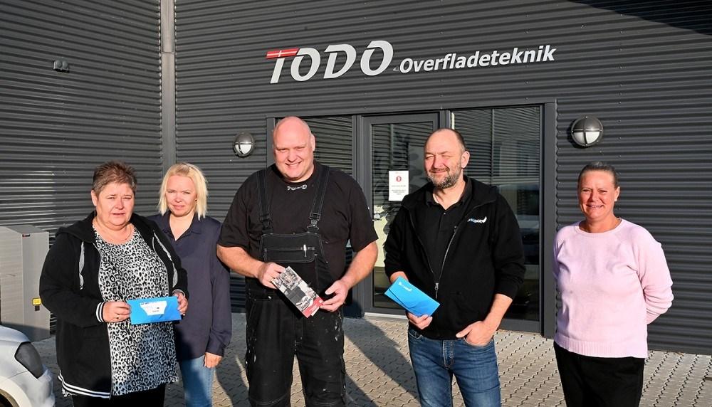Fra venstre, Vivi Husted, Rikke Cebula, Rene Cebula, Brian Sønder Andersen og Brigitta Bengtsson. Foto: Jens Nielsen
