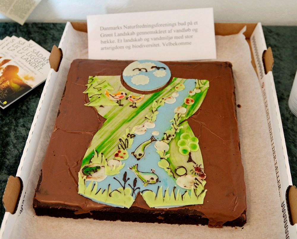 Naturfredningsforeningens bud på en grøn kage. Foto: Jens Nielsen