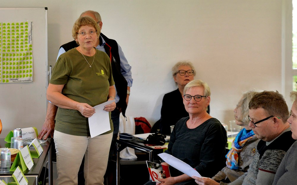 Formand for naturfredningsforeningen Susanne Ladefoged, bød de mange fremmødte velkommen. Foto: Jens Nielsen