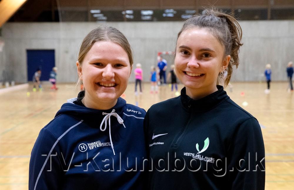 Emilie Dahl Eriksen og Mathilde Mosdal Andreasen har udviklet Hockey og Leg. Foto: Jens Nielsen