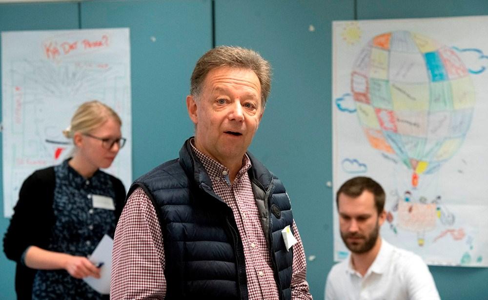 Formand forBørn og Familieudvalget,Karl-Åge Hornshøj Poulsen, bød velkommen til lørdagens workshop. Foto: Jens Nielsen