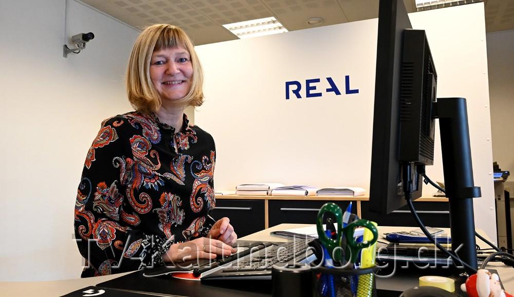 Vibeke Johansen er ny medarbejder hos Realmæglerne i Ubby. Foto: Jens Nielsen