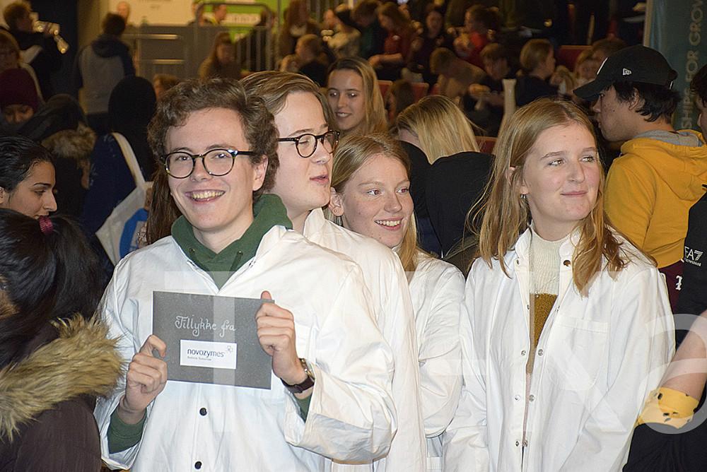 Nogle af vinderne fra Stenhus Gymnasium. Foto: Gitte Korsgaard.
