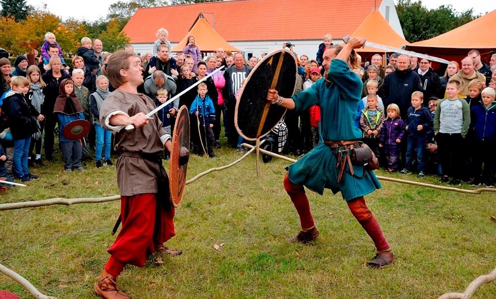 På Fugledegård Vikingecenter, hvor der hvert år afholdes det store vikingemarked,ønskes opsat en runesten. Arkivfoto: Jens Nielsen